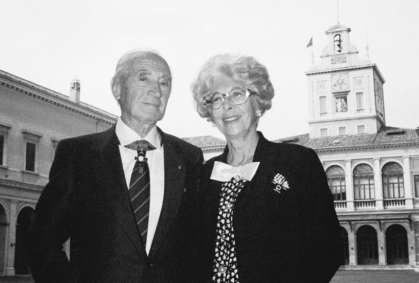 1994. Franco and Amina after being bestowed the highest civil honour by Italy's President Scalfaro.