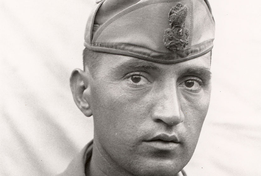 Franco Belgiorno-Nettis as a young Army Lieutenant before the Second World War.