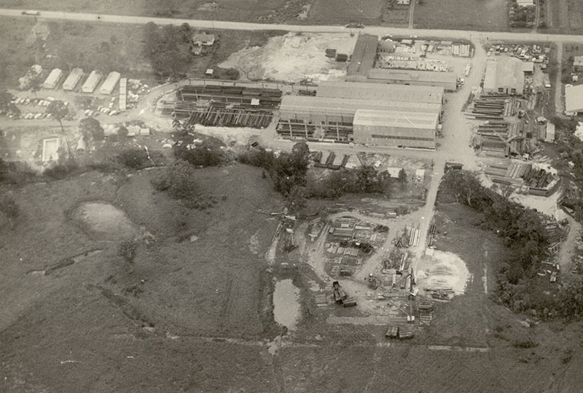 Circa 1963-64. Aerial view of Seven Hills factory.