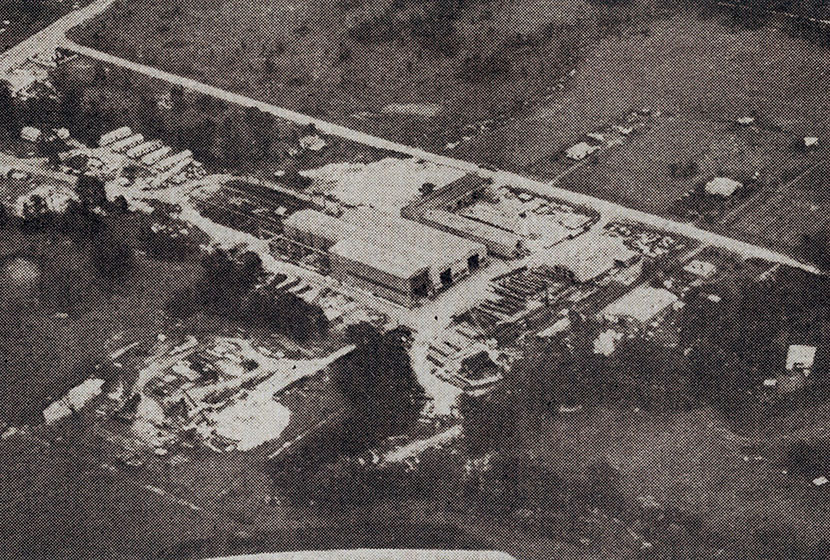 1960s. Aerial view of the Seven Hills factory.