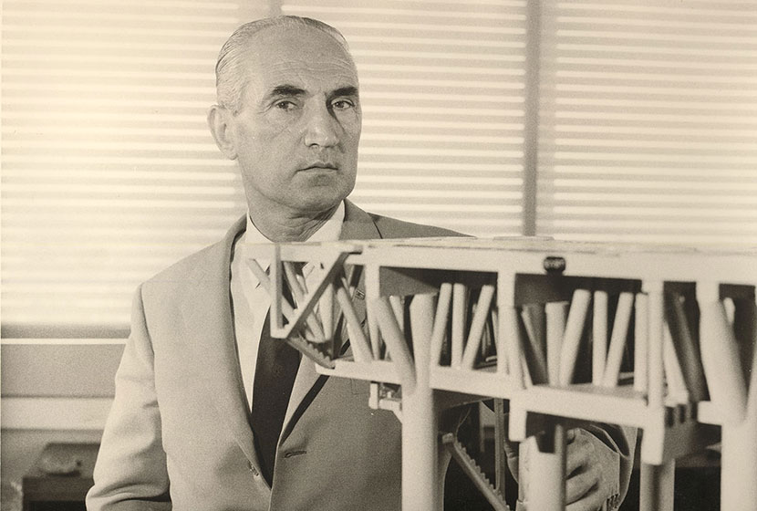 Franco at his office in Transfield House, North Sydney, in the early 1960s.