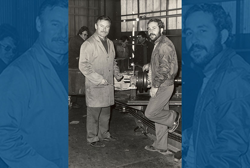 1960s. Seven Hills. Fabrication superintendent Peter Yiannikos and Machine Shop Foreman Frank Torrisi.
