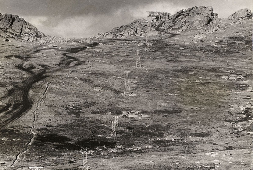 June 1958. Thredbo Chairlift, built by Sabemo.