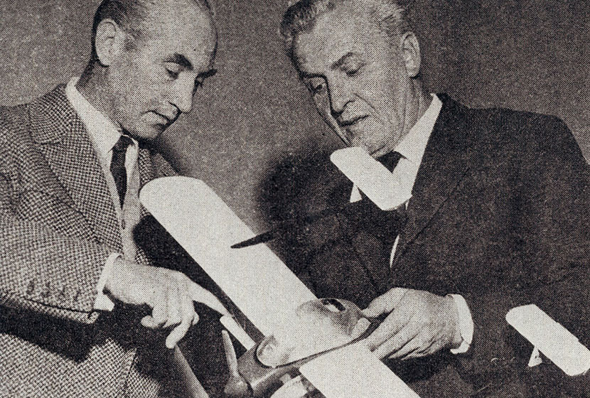 Early 1960s. Franco and Pellarini with an Airtruk model.