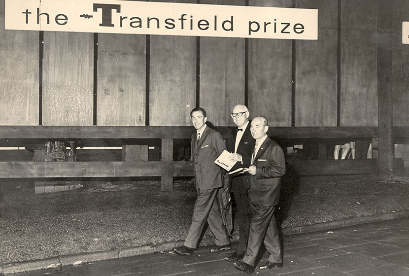 1966. Transfield Sculpture Prize. Carlo and Franco with Lord Mayor of Sydney, Alderman John Armstrong.