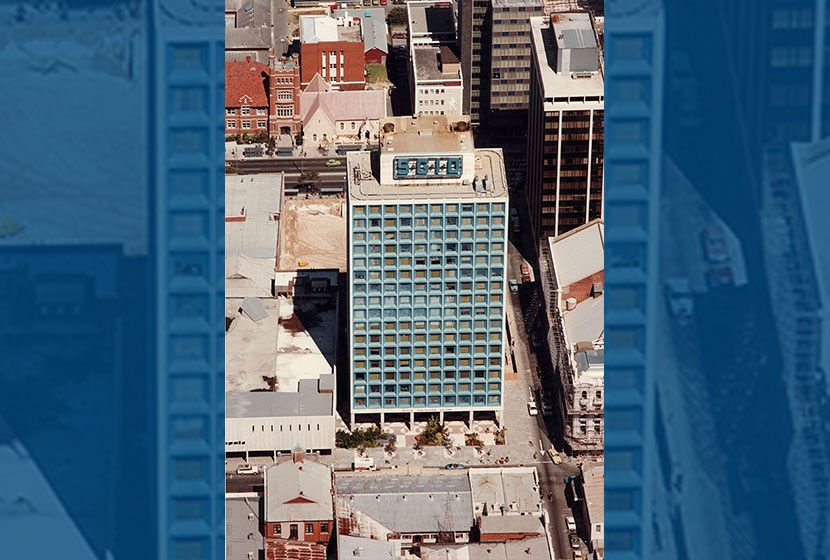 1972. Flotta Lauro Building, Perth, built by Sabemo.