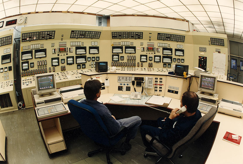 Control room of Muja power station, Western Australia.