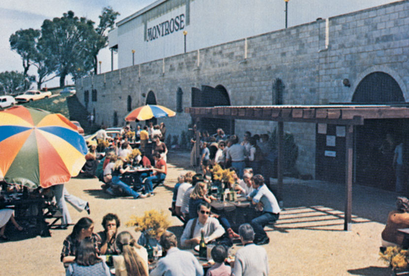 1979. Montrose Winery. Outdoor eating area.