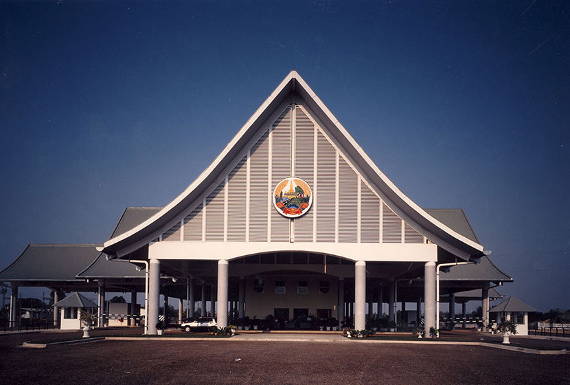 The Border Control Complex between Laos and Thailand, built by Transfield opened by April 1994.
