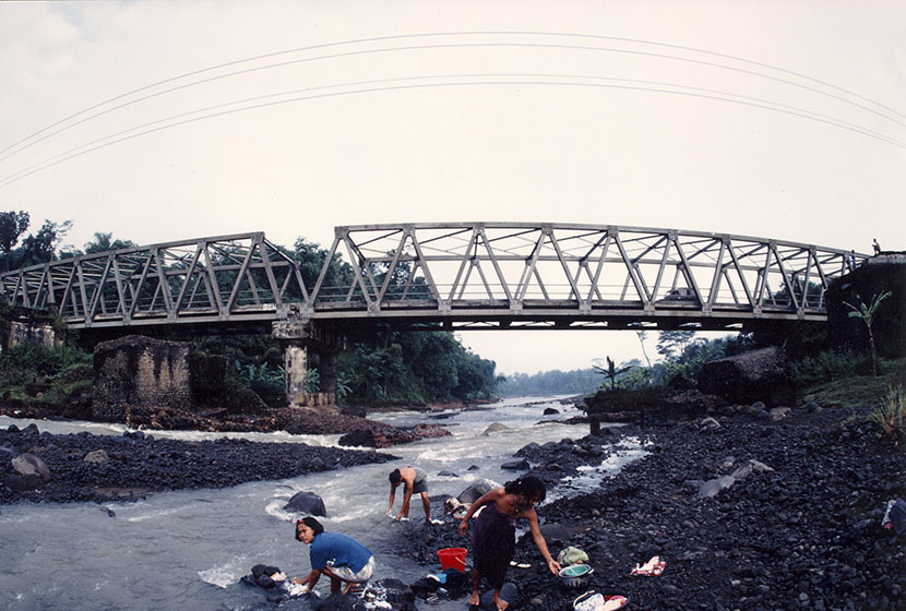 One of the hundreds of steel bridges built by Transfield and Trans-Bakrie in Indonesia.