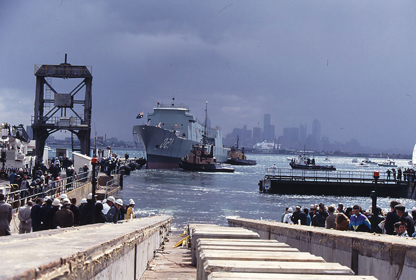 16 September 1994. HMAS Anzac in the water.
