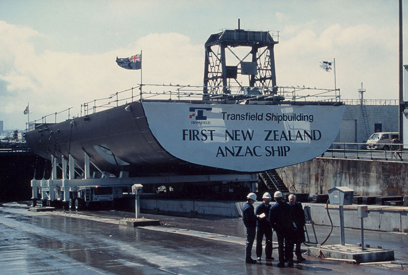 The stern of HMNZS Te Kaha.