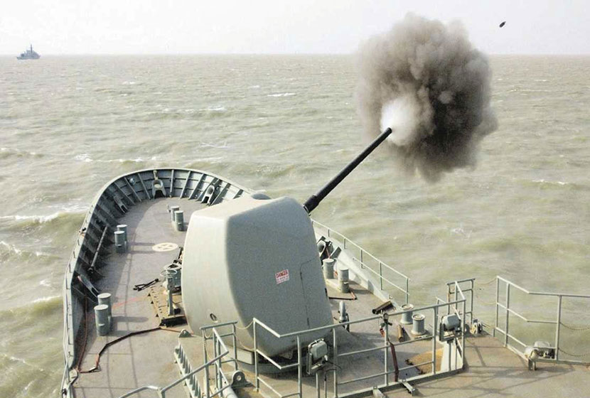 2001. Testing of overhauled naval gun for ANZAC class frigates by ADI.