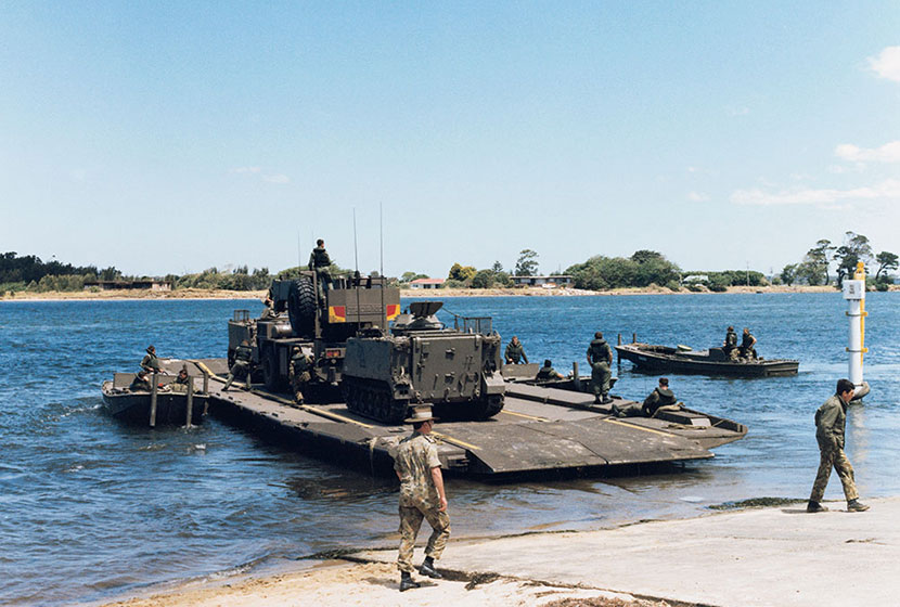 1989. One of the floating bridges supplied to the Australian Defence Force.