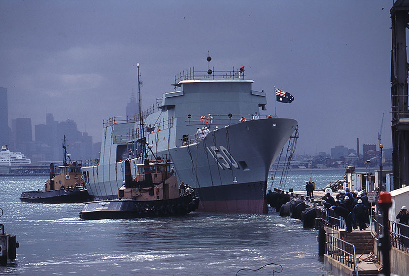 1994. HMAS Anzac in the water.