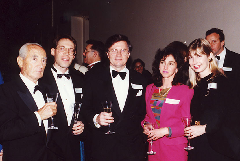 1992. Opening of the SHT. Franco, Guido, Peter Collins, Guido's wife, Michelle; Peter Collins' wife, Dominique.