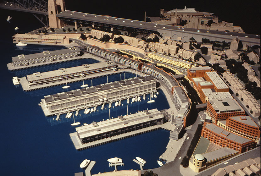 Artist impression of the Walsh Bay redevelopment by Walsh Bay Finance, the consortium formed by Transfield and Mirvac.