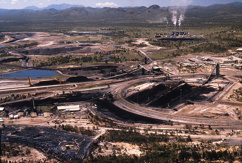 Aerial view of Collinsville power station, Queensland.